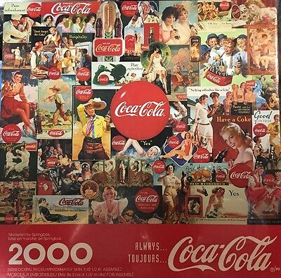 "Coca Cola Puzzle Always TouJours 2000 Pieces 34"" x 42 1/2"" Brand New Hallmark"