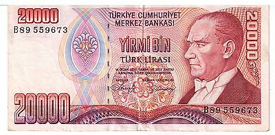 1970 Turkey 20000 LIRA Banknote