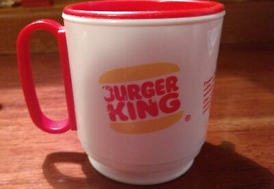 Vintage Burger King Plastic Travel Coffee Mug Cup