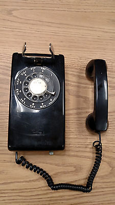 Vintage Western Electric Bell System  Rotary Wall Telephone  554 BMP