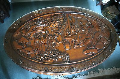 antique Chinese wood carved marriage table