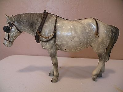 Vintage Breyer Horse Glossy Animal Creations Old Timer Dapple #205 Blinkers
