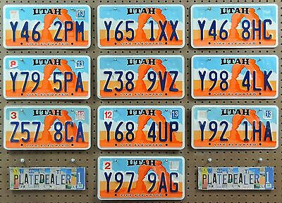 10 UTAH Life Rock Arch License Plates Tags Art Man Cave Hobbies Signs LOT 462
