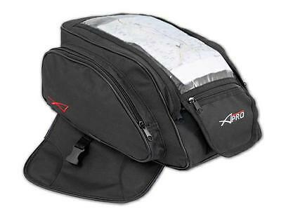 Tank Bag Luggage Motorcycle Motorbike Textile 5 lt Magnets Rain Cover  Black