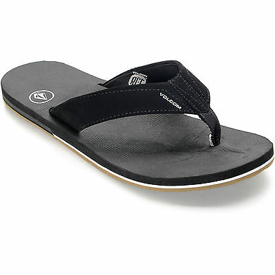 VOLCOM VICTOR BLACK/GUM SANDALS Men's Flip Flops (Size 9-11) Brand New