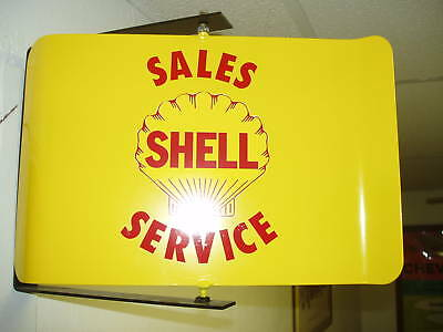 Shell Oil  50S Era Spinning Wall Mount Advertising Sign