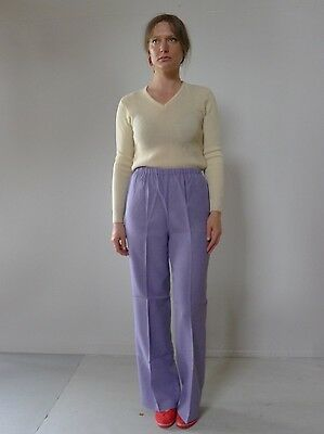 Vintage retro true 70s 12 M unused purple pants flares Chalet tags NOS