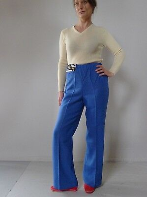 Vintage retro true 70s 12 M unused blue  pants flares Chalet tags NOS