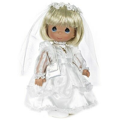 Precious Moments 12 Inch Doll, 'My First Communion', Blonde, New with Tag, 1490N