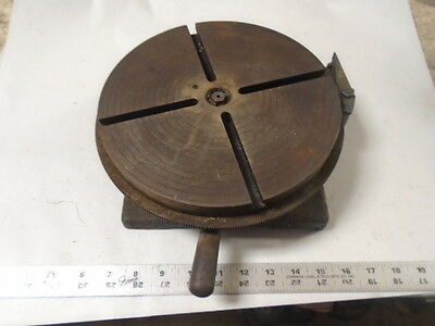 "MACHINIST TOOLS LATHE MILL Machinist 9 1/4"" Gorton Rotary Table"