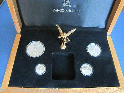 2013 4 COIN FRACTIONAL Silver LIBERTAD BU & PROOF SET (800 minted w/ COA)