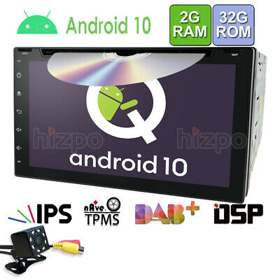 "Android DAB+OBD TV WiFi GPS HD 7"" Double Din Car Stereo MP5 Player Radio +Camera"