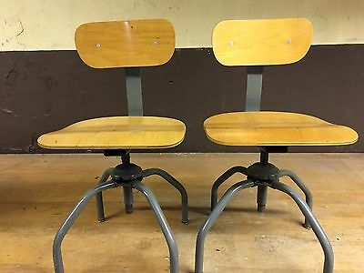 Vintage Bevco Industrial Adjustable Swivel Chair