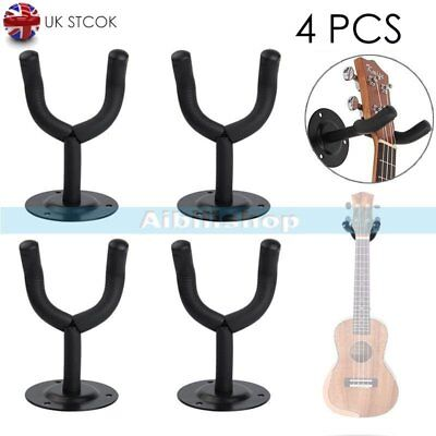 4x Electric Guitar Wall Hanger Holder Stand Rack Hook Mount for All Size Guitar