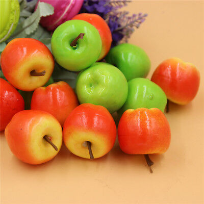 Pack 50 Lifelike Mini Apples Artificial Faux Fruit Miniature Crafts Decorations