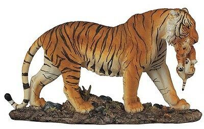 "15"" Bengal Tiger Statue Figurine Safari Wildlife Wild Cat Animal Figure Nature"