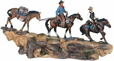 """12"""" Inch Wide Cowboys Rope Pack String Statue Western Figurine Country Donkey"""
