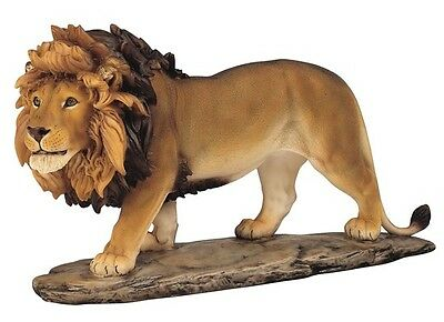 "12"" Lion Statue Figurine Safari Wildlife Wild Cat Animal Figure Nature Jungle"