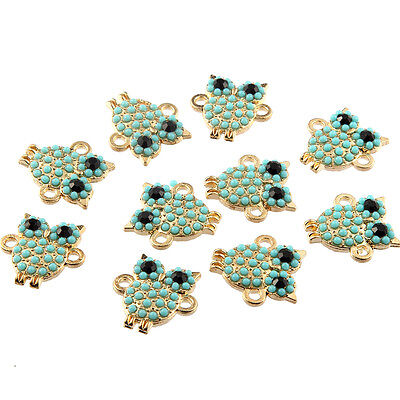 10pcs New Nighthawk Inlaid Beads Connector Alloy Charms Fit DIY Bracelet 18*17mm