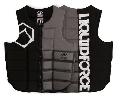 2017 Liquid Force Flex Watersports Wakeboard Impact Vest S -XL Black Grey. 51100