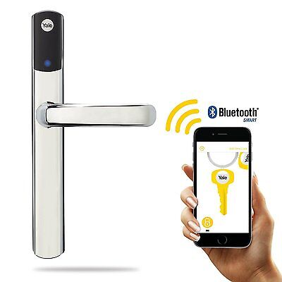 Yale Conexis L1 Smart Door Lock and Handle Keyless Bluetooth Enabled - Chrome
