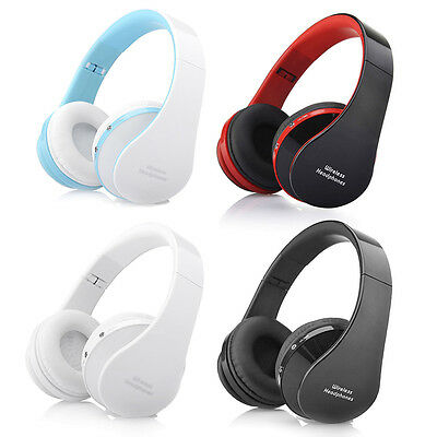 Wireless Bluetooth Foldable Headset Stereo Headphone Earphone For Samsung iPhone