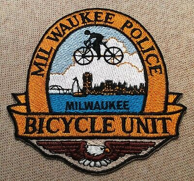 WI Milwaukee Wisconsin Bicycle Unit Police Patch