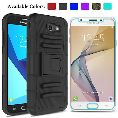 Case For Samsung Galaxy J7 Prime/Sky Pro/Perx Kickstand With Screen Protector HD