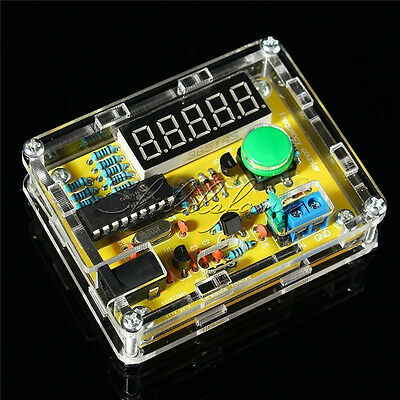New 1Hz-50MHz Crystal Oscillator Tester Frequency Counter Meter + Case DIY Kits
