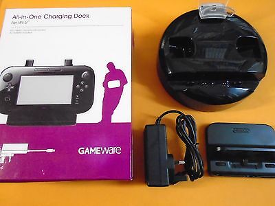 wii U ALL IN ONE CHARGING DOCK For wiiU BOXED With Power Supply VGC