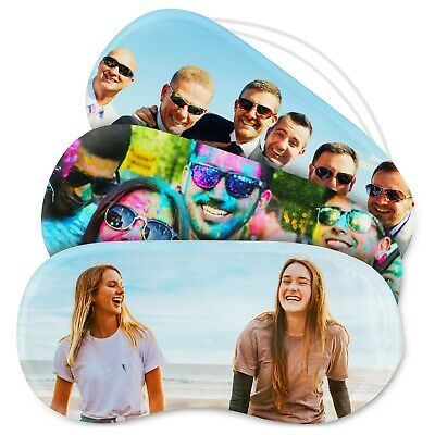 Happy Snap Gifts® Personalised Photo Rest Soft Cover Travel Sleeping Eye Mask