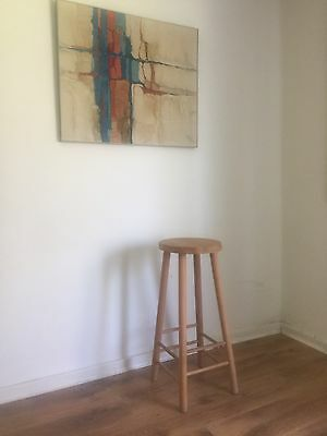 Mid Century Vintage Wooden Lab/Kitchen Stool One Other Available