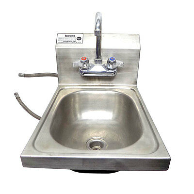"Krowne HS-9 Wall Mount 12"" Hand Sink With Gooseneck Faucet w/ 1/2"" Connectors"