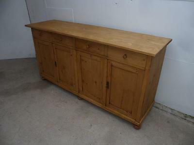 A Superbly Waxed Reclaimed Pine Large Kitchen Dresser Base