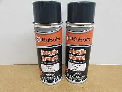 2 Cans - New Kubota Oem Blue / Green Touch Up Spray Paint 70000-00197