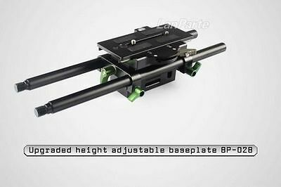 Updated Lanparte Baseplate BP-02 Fr 15mm Rods DSLR Should Rig Follow Focus