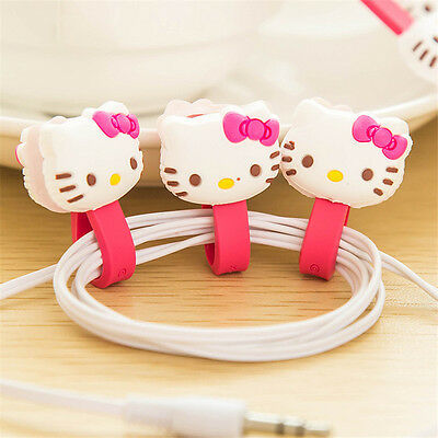 Animal Cartoon Earphone Winder Wire Computer Cable Cord Organizer Holder Clip