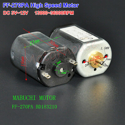MABUCHI FF-270PA Small Micro DC Motor High Speed 3V 6V 9V 12V 36000RPM