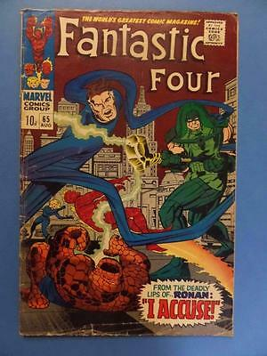 Fantastic Four 65 1967 1St Ronan The Accuser Guardians Of The Galaxy!