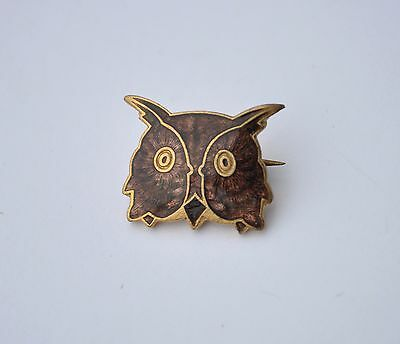 Vintage BROWN OWL WARRANT pin badge Brownies Girl Guiding Guides By Wylie