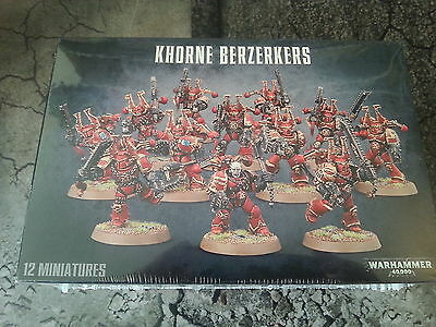 Warhammer 40K Chaos Space Marines Khorne Berzerkers - New & Sealed
