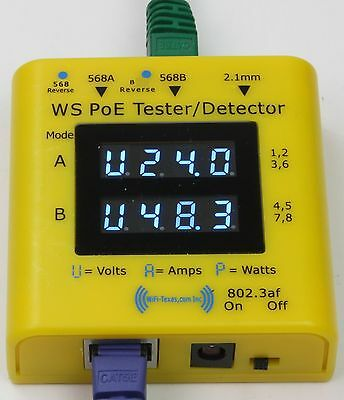 WS-PoE-Tester/Detector - Inline tester for power over ethernet display from 2...
