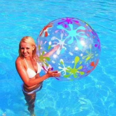 "48"" Large Splash & Play Fun Pool Beach Ball Swimming Holiday Outdoor Party NEW"