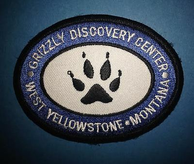 Grizzly Discovery Center Yellowstone Park Hat Jacket Vest Backpack Travel Patch