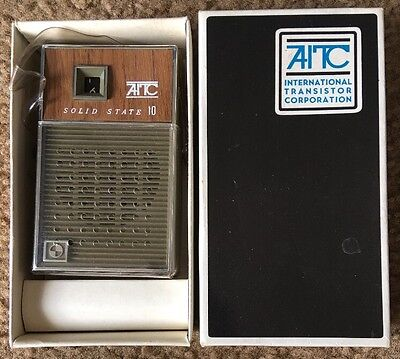 AITC Transistor Pocket AM Radio Solid State 10 Model # P2110