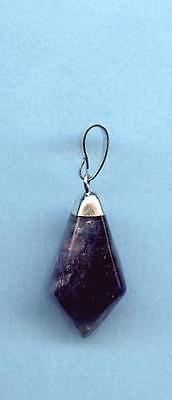 Fluorite Diamond Shaped Tumbled Stone Pendant #4