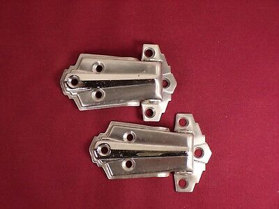 Vintage Pair of Cooler Freezer Icebox Hinges Hardware Art Deco Design Medical Ca