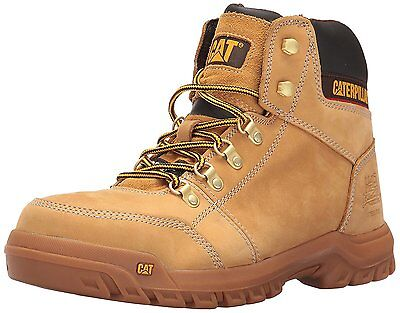 Caterpillar Men's OUTLINE ST Honey P90801 STEEL TOE Slip Resistant Work Boots
