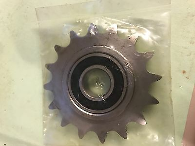 "#40 Roller Chain Sprocket Idler 16 Tooth 5/8"" bore"