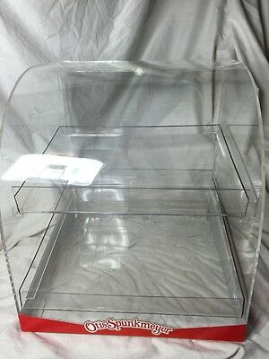 Commercial Otis Spunkmeyer Dome Lucite  Acyclic 2 Shelf display